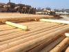 Funderingshout en schoorhout in ontschorst hout